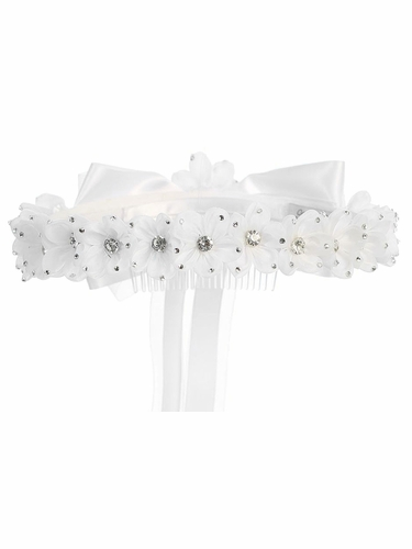 Kids Dream Girls' Gem White Flower Crown