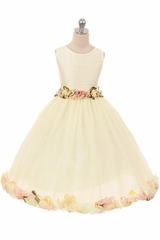 Kiki Kids 6427 Ivory Victorian Petal Dress