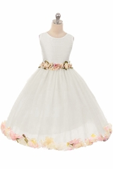 Kiki Kids 6427 White Victorian Petal Dress