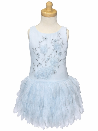 Light Blue Biscotti 137 Young Romance Petals Dress