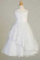 Swea Pea & Lilli SP648 Tulle With Beaded Applique Dress