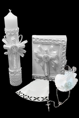Lito Embroidered Cross Baptism Gift Set