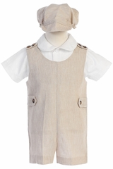 Lito G835 Khaki Cotton Linen Romper Set