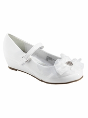 Little Angel SOPHIE- 999 Girls White Patent Rhinestone Flower Dress Shoe