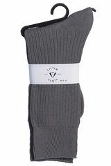 Little Gents Boys Grey 100% Nylon Socks