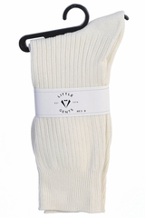 Little Gents Boys Ivory 100% Nylon Socks