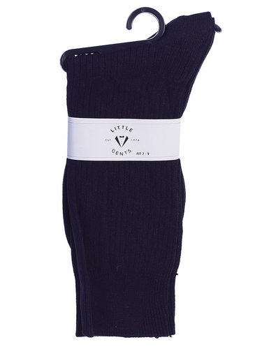 Little Gents Boys Navy 100% Nylon Socks