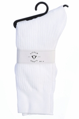 Little Gents Boys White 100% Nylon Socks
