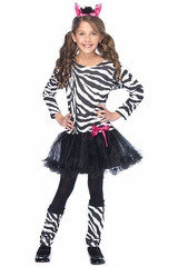 Little Zebra Costume for Girls