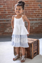 Mimi & Maggie 80365 Chambray Twin Stripes  Collection Picket Fences Dress