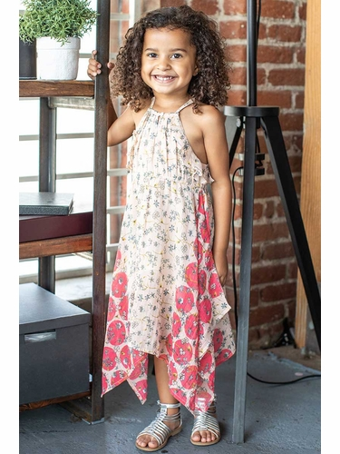 Mimi & Maggie 80368 Dots & Blossoms Collections Floating Blossoms Beach Dress