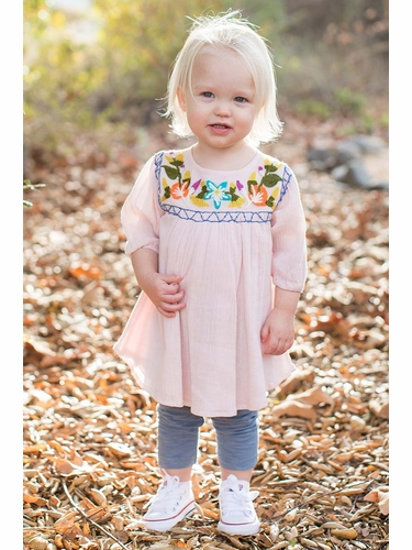 Mimi & Maggie Kimono Flowers Babies Collection 80254 Sweet Flower Dress & Leggings
