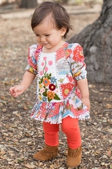 Mimi & Maggie Kimono Flowers Babies Collection 80259 Emilee Dress & Leggings