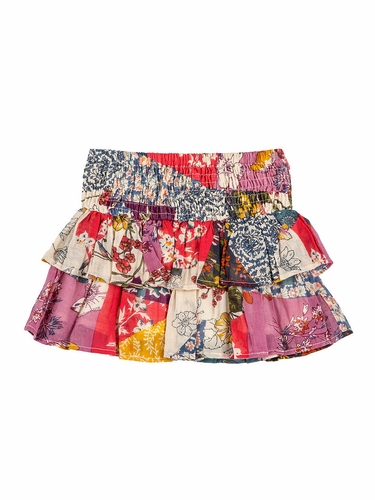 Mimi & Maggie Wildflower Collection 3345 Monique Double Ruffle Skirt