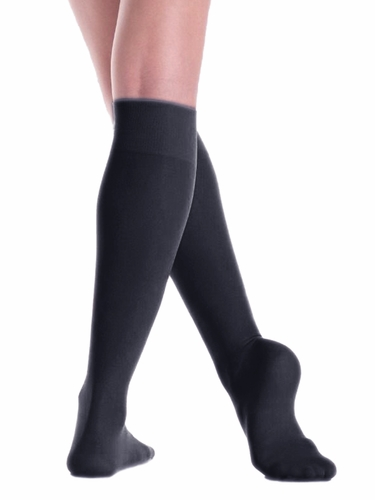 Mondor 00104 Black Opaque Knee High- 2 Pair Pack