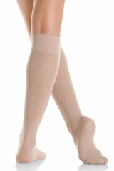 Mondor 00104 Light Tan Opaque Knee High- 2 Pair Pack