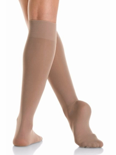Mondor 00104 Suntan Opaque Knee High- 2 Pair Pack
