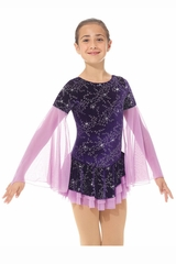 Mondor 02766 Frosted Flower Shiny Velvet Dress