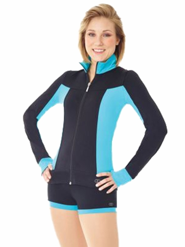 Mondor 24807 Teal Supplex Colorful Sides Jacket