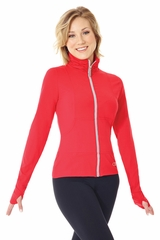 Mondor 4808 Chic Red Front Zipper Jacket