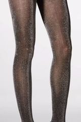 Mondor 5379 Pearl Gray Semi Opaque Tights w/ Lurex