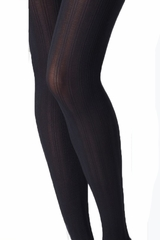 Mondor 5762 Black Rib Motif Tight