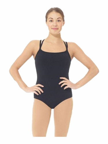 Mondor 6872 Black Supplex T-Back Leotard