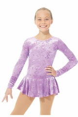 Mondor Frosty Lavender Born To Skate Glitter Velvet Dress