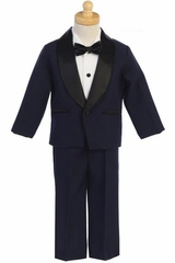 Navy and Black Dinner Jacket w/ Pants 4 PC Tuxedo