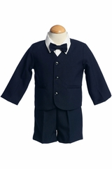 Navy Blue 4 Piece Polyester Shorts w/ Jacket