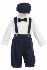 Navy Suspender Knickers w/ Hat