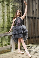 Ooh! La La! Couture FH1806 Black & Pink Chloe Dress