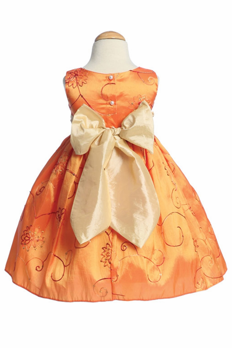 e68097e5c0f1 Home > Orange Embroidered Taffeta w/ Rose Buds. Click to Enlarge Click to  Enlarge