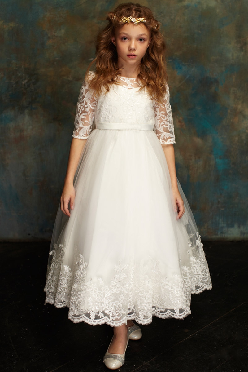 cb2fb6d1e0 Home   Girl s Dresses   First Communion Dresses   Petite Adele 327 White  Hi-Low Lace Communion Dress. Click to Enlarge Click to Enlarge ...