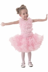Popatu Pink Infant Solid Ruffle Petti Dress