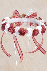 Red Vintage Headpiece - Rosie