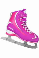 Riedell Ice Skates 615 Purple & Pink Girls Junior Shoes w/ Spiral Stainless Blade