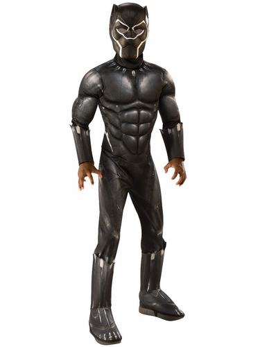 Rubie's 641048 Kids Muscle Chest Black Panther (Movie) Costume