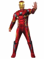 Rubie's 810968 Marvel Civil War Iron Man Adult Deluxe Muscle Costume