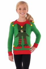 Rubies 620256 Kids Green Elf Sweater