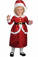 Rubies 885975 Girl's Lil' Mrs. Claus Dress & Apron