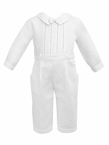 Sarah Louise Boy's White Trouser & Top