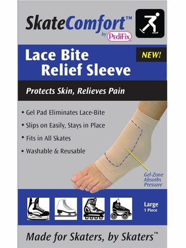 Skate Comfort By PediFix SC1408 Lace Bite Relief Sleeve