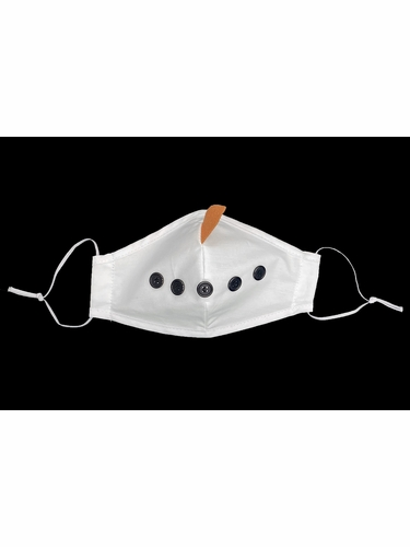 Snowman White 100% Cotton 2-Ply Face Shaped Mask