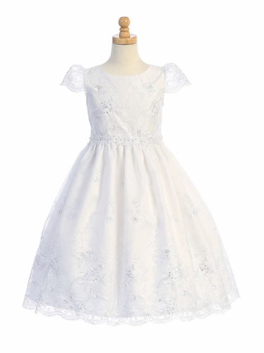 Swea Pea & Lili SP171 Embroidered Organza w/ Sequins  Dress