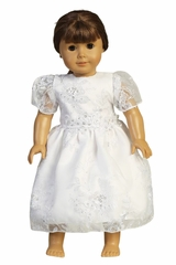 Swea Pea & Lili SP171Z Embroidered Organza w/ Sequins Doll Dress