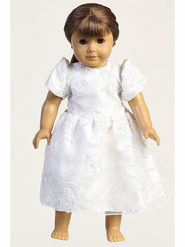 Swea Pea & Lili SP183Z Corded Tulle w/ Sequins Doll Dress