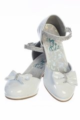 Swea Pea & Lilli Bella White Shoe w/ Low Hill & Rhinestone Strap