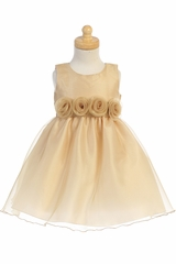 Swea Pea & Lilli C517 Gold Crystal Organza Dress