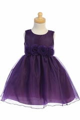 Swea Pea & Lilli C517 Purple Crystal Organza Dress